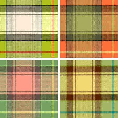 Textured tartan plaid. Seamless vector pattern Vector