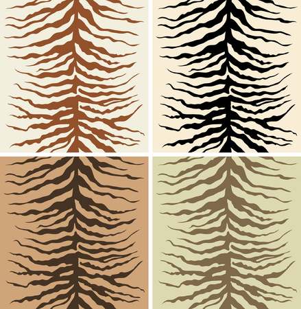 currying: Seamless pattern of zebra skin