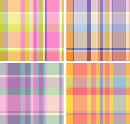 Spring-and-summer collection of plaid. Seamless pattern Vector