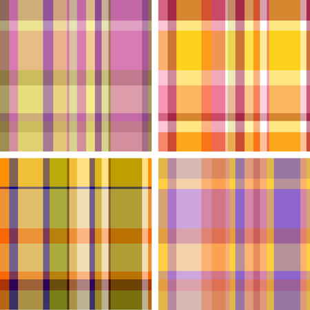 Summer-and-autumn collection of plaid. Seamless pattern Vector