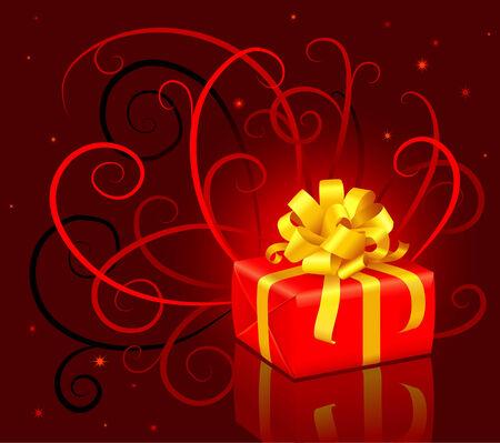 christmas present box: Christmas present box with a bow