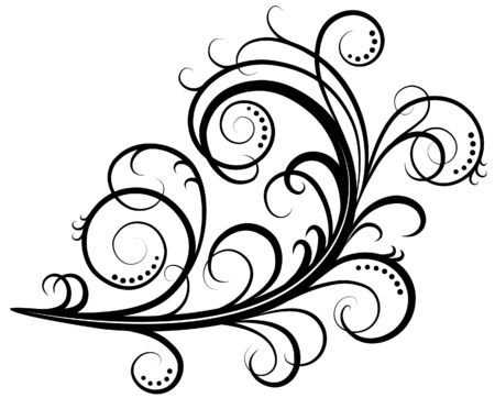 vector retro-styled scroll with all separated elements