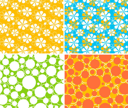 four simple seamless retro patterns Vector
