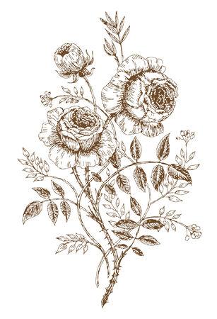 oude-stijl vector steeg. Spoor van Vrije-stijltekenen Stock Illustratie