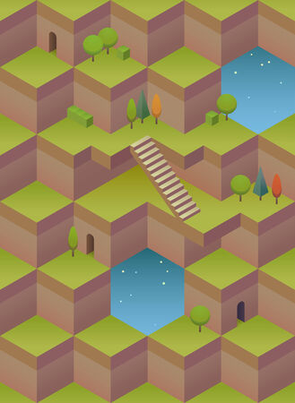 surrealistic: Background consisting of geometrical shapes. Seamless pattern Illustration