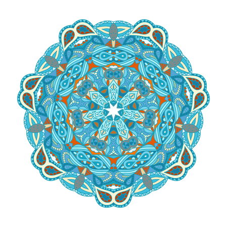 Round vector ornament Mandala. Traditional orient symbol. Vector