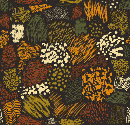 pattern consisting of hand-drawn brush strokes, blots, stripes and stains