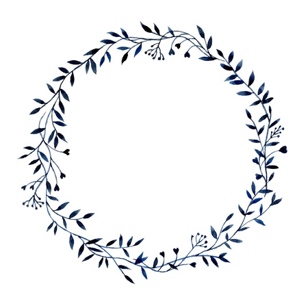 Hand-drawn watercolor floral frame made in vector Vectores