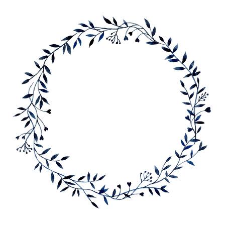 Met de hand getekende aquarel bloemen frame gemaakt in vector