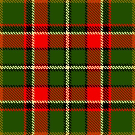 christmas plaid: Textured tartan plaid. Seamless vector pattern