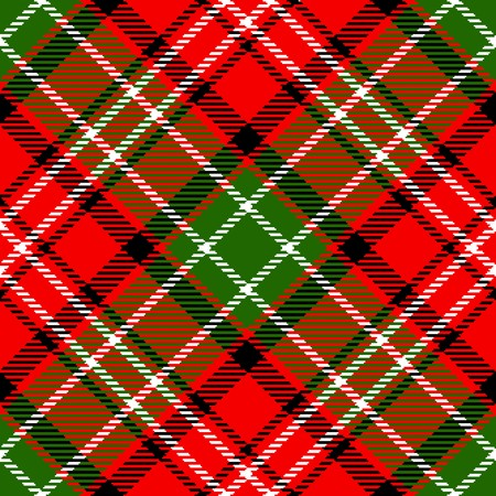 checkered background: Textured tartan plaid. Seamless vector pattern
