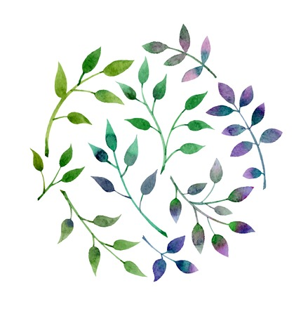 floral abstract: Hand Drawn vintage floral elements. Set of plants. Illustration