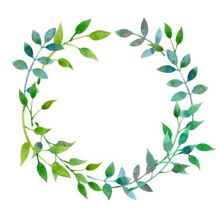 Von Hand gezeichnet Aquarell floral frame im Vektor Standard-Bild - 34551366