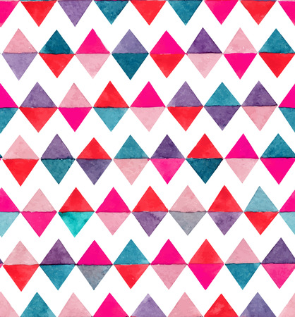 Seamless abstract watercolor retro triangular background Stock Vector - 35221390
