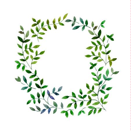 -Hand getekende aquarel bloemenframe Stock Illustratie