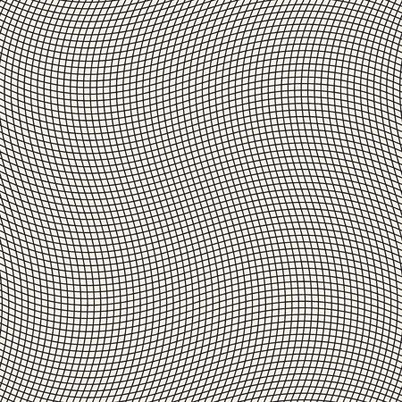 undulated: Geometric waving grid, vector seamless pattern