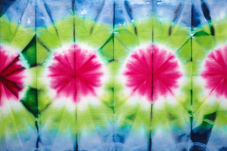 batik pattern: Abstract tie dyed fabric background