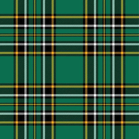 tartan plaid: Textured irish tartan plaid. Seamless vector pattern