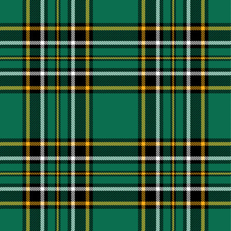 Textured irish tartan plaid. Seamless vector pattern 免版税图像 - 37129224