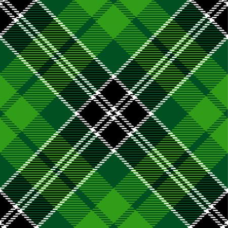 madras: Textured irish tartan plaid. Seamless vector pattern