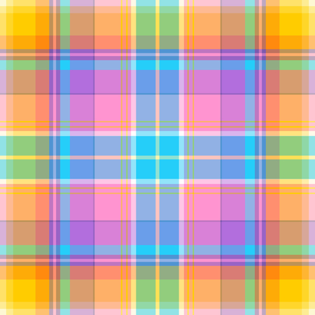 Madras: Seamless madras plaid pattern Illustration