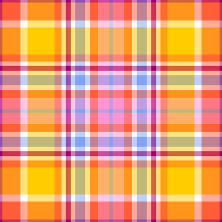 Seamless madras plaid pattern Çizim