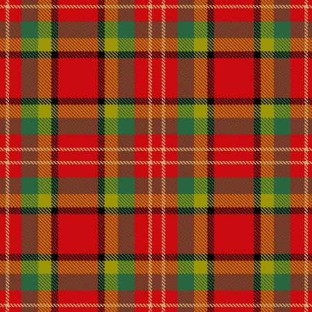 checkered: Textured tartan plaid. Seamless pattern Illustration