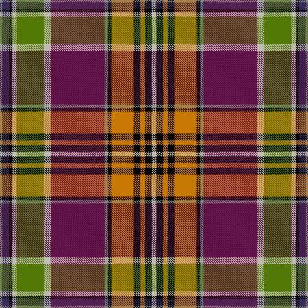 madras: Textured tartan plaid. Seamless pattern Illustration