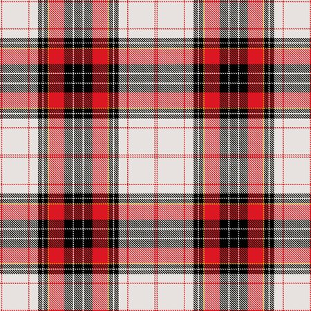christmas plaid: Textured tartan plaid. Seamless pattern Illustration