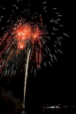 Fireworks celebrate the 60th anniversary of the throne, King of Thailand. Stock Photo - 9957768