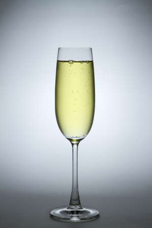 One champagne glass for special time
