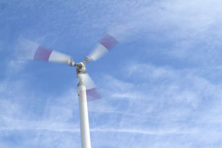 Wind turbine, Alternative energy. Stock Photo