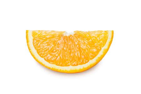 Slices of orange  isolated on white background.  Stock Photo