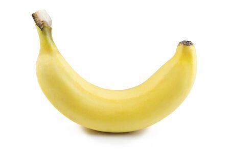 Banana on white background. Stock Photo
