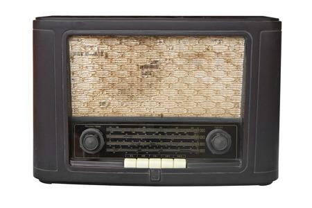 Antique radio on isolated white
