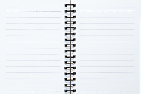 note book: Page of notebook on isolate white Stock Photo