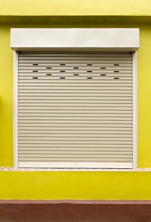 shutter door: Shutter door or rolling door. Stock Photo