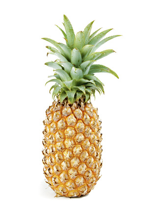 pineapple slice: Pineapple  on white background.