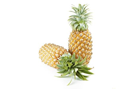 Pineapples  on white background.