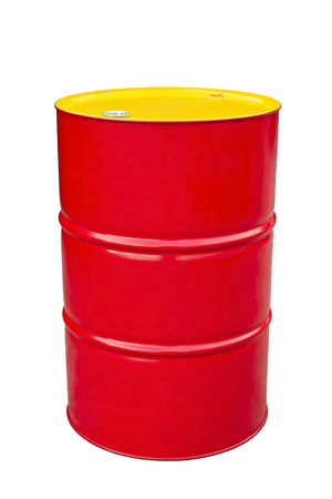 red metal: Red metal barrel isolated on white.