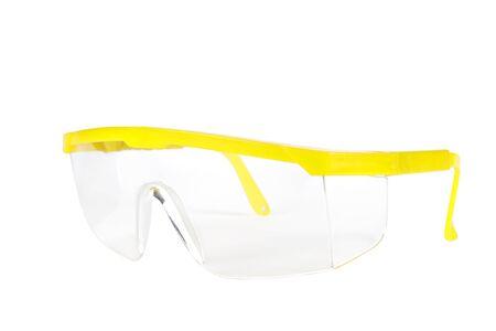 safety glass: Safety glass on white background. Stock Photo