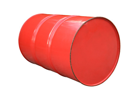 opec: Oil metal barrel isolated on white. Stock Photo