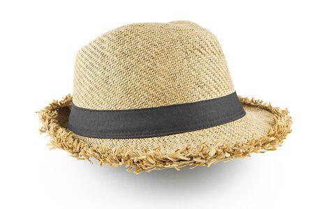 fedora: Fedora hat on white background