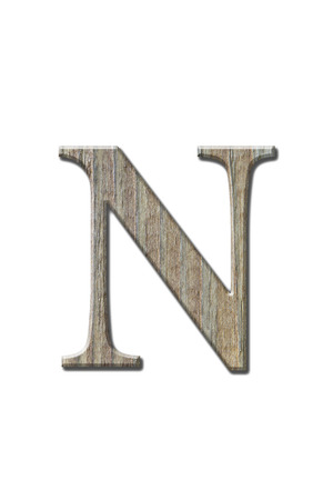 alphabet letter a: Wooden letters isolated on white.