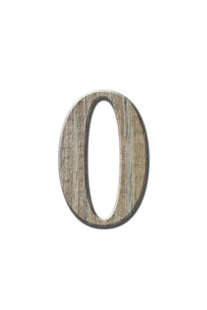 cypher: Wooden letters isolated on white.