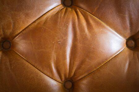 Texture of genuine leather sofa. Stock Photo