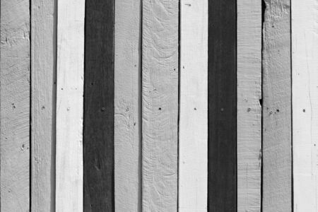 Wooden background. Black and white tone. Banco de Imagens