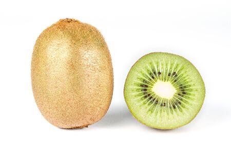 Kiwi fruit isolated on white.
