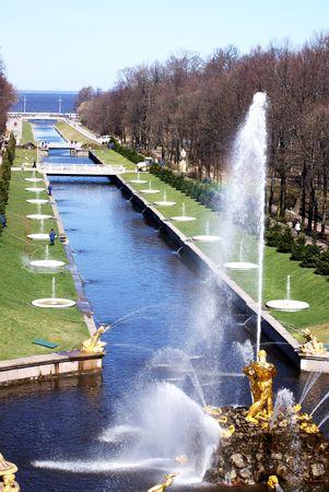 The Samson Fountain in Petergof Stock Photo - 7361475