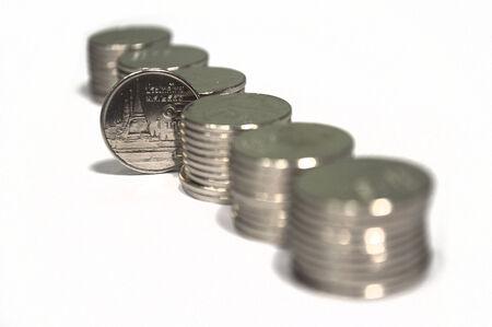 Gruppe Von Thai Münze Baht Ein Baht Münze Zeigen Wie Sammlung